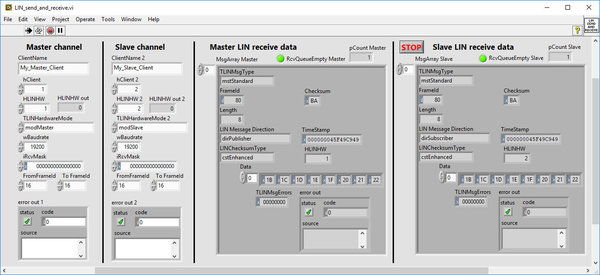 LabVIEW® API for PLIN©